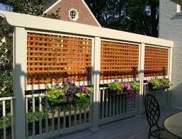 deck with planters and lattice privacy