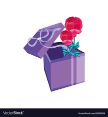 Beautiful Gift Box Design Beautiful Flowers In Gift Box Present