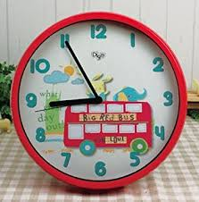 "12"" Children SILENT Wall Clocks for Kids Room - QUIET- Decorative -  Battery Operated"