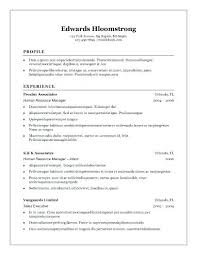 Example Basic Resume Easy Resume Layout Free For You Free Resume ...