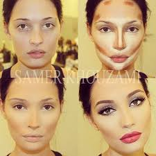 if you need to contour your face to hide things or change your appace that much then you ugly it s so much makeup