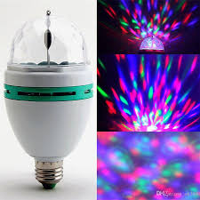Rotating Color Light 3w E27 Rgb Bulb Lighting Full Color Led Crystal Stage Light Auto Rotating Stage Effect Dj Lamp Mini Stage Light With Retail Box 12v Led Bulb Par20 Led