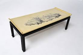 ... Coffee Table, Cozy White And Black Rectangle Ancient Wood Art Deco  Coffee Table Designs For ...