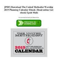 Online Planning Calendar Pdf Download The United Methodist Worship 2019 Planning Calendar