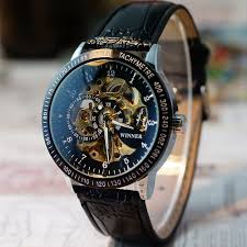 men hollow skeleton automatic mechanical stainless steel wrist men hollow skeleton automatic mechanical stainless steel wrist watch image