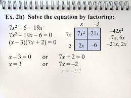 solving quadratic equations in one variable by factoring