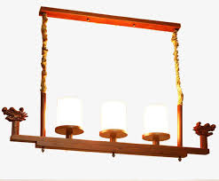 modern chinese solid wood living room chandelier restaurant retro glass chandelier personality simple