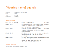 Agenda Template Word 2013 Annual Business Meeting Agenda Business Agenda Template 8