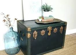 Steamer Trunk End Table Leather Furniture Steamer Trunk Nightstand End Table  Leather Southern Steamer Trunk End . Steamer Trunk End Table ...