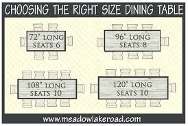 fantastic 8 dining table dimensions best ideas about on 6 seater round