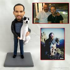 2019 personalized gifts for father gift boyfriend personalized date name wedding cake topper groom and bride action figures clay doll from turui figurines