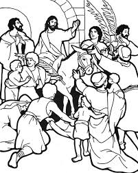 Palm Sunday Coloring Pages To Print At Getdrawingscom Free For