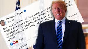 There were 2,827 patients hospitalized with coronavirus cases across new jersey's 71 hospitals as of monday night, the lowest number since november. Trump Covid Post Deleted By Facebook And Hidden By Twitter Bbc News