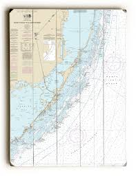 Fl Fowey Rocks To Alligator Reef Florida Keys Fl Nautical Chart Sign