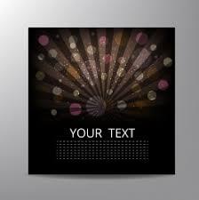 brochure cover template dark design bokeh rays decoration