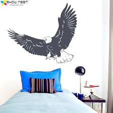 eagle wall art flying decal bald decor nature animals sticker metal outdoor