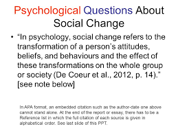 chapter intro to social change ppt psychological questions about social change