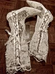 made to order victorian wedding boots white lace by arabescque Victorian Wedding Boots For Sale made to order victorian wedding boots white lace by arabescque, $349 99 Victorian Ladies Boots