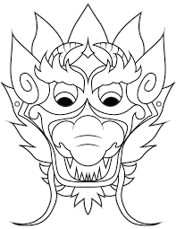 Chinese Dragon Coloring Pages Easy Hand Drawing Super Coloring Page