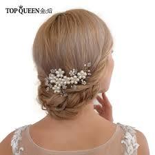 Topqueen Hp05 งานแตงงาน Combs แตงงาน Elegant อปกรณเสรมผมเจาสาวหว Pearl ลกปดสำหรบ Party Fast การจดสงเดม
