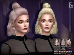 Lana CC Finds - S-club ts4 hair Yoyo n32 | Sims hair, Sims, Sims 4