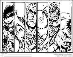 Coloriage De Avengers Good Thor Oeil De Faucon Et Capt America