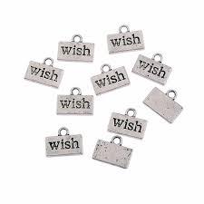 10pcs tibetan silver wishes theme charm pendant finding bead jewellery making