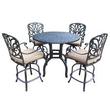 54 5 piece bar height patio set bar height patio furniture sets foter timaylenphotography com