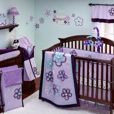 baby girl bedding sets purple and green designs