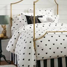 the emily and meritt heart and star black and white duvet cover and sham