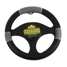 Simoniz Deluxe Steering Wheel Cover Tripple Grip Grey