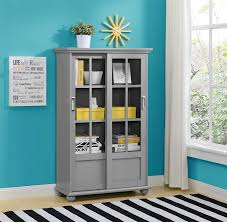 bogcey altra bookcase with sliding glass doors good billy bookcase