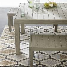 portside outdoor dining table 58 weathered gray