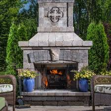 outdoor stone fireplace. Brighton™ Series Outdoor Stone Fireplace O