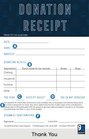 How To Fill Out A Goodwill Donation Tax Receipt Goodwill Nne