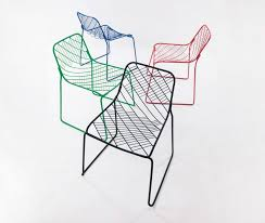 people s industrial design office create wire mesh chair
