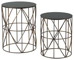 metal end table innovative round metal accent table set of two gold finish round metal accent metal end table