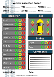 Free Printable Vehicle Inspection Form 6 Free Vehicle Inspection Forms Modern Looking Checklists For