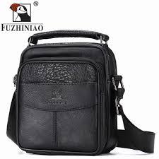 Designer Shoulder Bags Mens Fuzhiniao Small Men Messenger Bag Luxury Genuine Leather Brand Zipper Designer High Quality Shoulder Casual Office Bag For Male