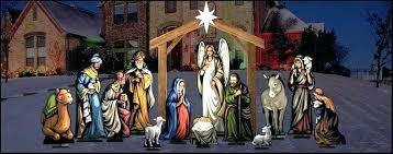 outdoor manger set plastic nativity scene holy night large view light up lawn outdoor wooden manger scene