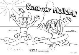 季節のぬりえ夏のぬりえ子供の英語アルク