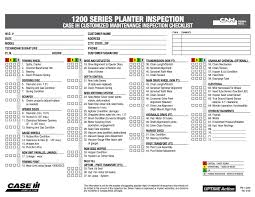 inspection sheet free download planter inspection checklist titan outlet store