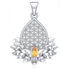 lotus flower of life gemstone pendant at jewelry gem sterling silver jewerly gemstone
