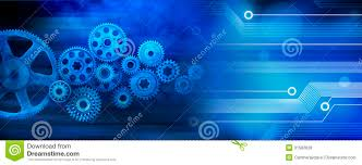 free banner backgrounds innovation computer data cogs technology banner background stock