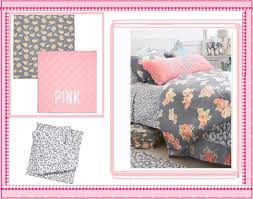 4pc victoria s secret pink fl reversible comforter bed sheets twin xl 4pc
