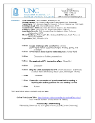 Staff Meeting Agenda Faculty And Staff Meetings UNC Gillings School Of Global Public 7