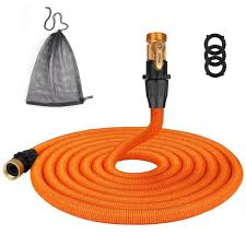 hospaip 50ft garden hose all expandable water hose with double latex core for