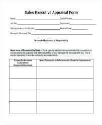 Job Evaluation Template sales performance appraisal form – gamerates.co