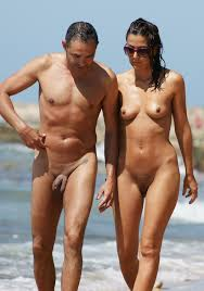 Naked couples on the beache