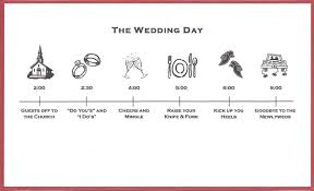 Wedding Timeline Bicoastal Bride Wedding Invitations Fun Timeline Inserts 21